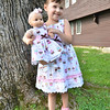 Topsfield: Hannah Linda Fullerton, 3, of Middleton holds her doll, also named Hannah.  photo by Mark Teiwes /  Salem News