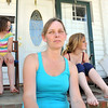 Salem: Deedee Kinsella sits in front of her daughters Cassandra, left,  and Catherine, right.  They live near a proposed methadone clinic.  Deedee Kinsella is one of several neighbors fighting the project.   photo by Mark Teiwes / Salem News