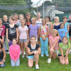 Beverly: 5th and 6th graders make up the Spartans cheer team. photo by Mark Teiwes /  Salem News