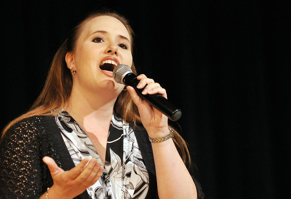 Danvers: Danvers Idol finals contestant Laura Pawlyk of Peabody performs during the contest.   photo by Mark Teiwes / Salem News