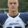 Swampscott High School varsity football captain Richard Sullivan.  photo by Mark Teiwes /  Salem News