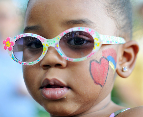 Peabody: 2-year-old Anabella DeLeon, of Peabody had her face painted during the picnic with the St John the Baptist Church at Emerson Park. photo by Mark Teiwes / Salem News
