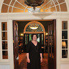 Salem: Jean Marie Procious, the director of the Salem Athenaeum, stands in the entryway of the building.  The Athenaeum is celebrating its 200th anniversary.   photo by Mark Teiwes/ Salem News