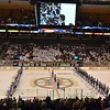 Boston: St. John's Prep lines up with Malden Catholic at the start of the Division 1A state final at the TD Garden.   photo by Mark Teiwes / Salem News