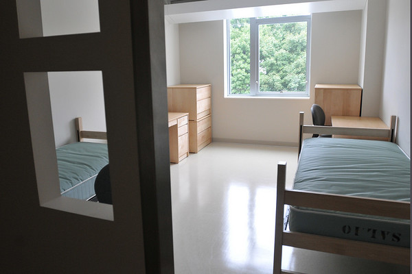 Salem:  Most of the Marsh Hall residential rooms are doubles. photo by Mark Teiwes / Salem News