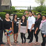 Salem:  Salem CyberSpace celebrated at the House of Seven Gables with seniors graduating from the program.  From left, Ryan Frias, Katheryn Toribio, Sharon Martinez, Scarlett Gonzalez, Vladi ...