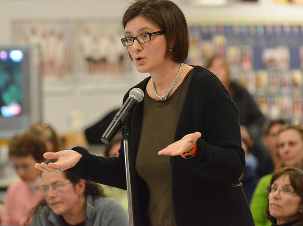Wenham: Ivana Culic-Makogonov of Hamilton voices problems with class during February break, having a vacation out of town planned long in advance.  photo by Mark Teiwes / Salem News
