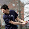 Danvers: St. John's Prep tennis #1 singles player is Cameron Trosin.  photo by Mark Teiwes / Salem News