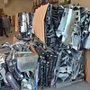 Danvers:  Computer parts are ready to be shipped for recycling. photo by Mark Teiwes / Salem News