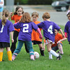 Hamilton: Hamilton Wenham Purple Lilacs and the Orange soccer team take each other on.  photo by Mark Teiwes / Salem News