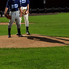 Danvers: Matt Hogan, left and Brandon Hyde are two of the go-to pitchers for the Danvers Babe Ruth baseball 14-year-old all-star team.   photo by Mark Teiwes / Salem News