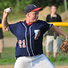 Tewksbury:  Peabody West pitcher Connor Corrigan.  photo by Mark Teiwes / Salem News