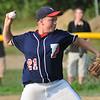 Tewksbury:  Peabody West pitcher Connor Corrigan.  photo by Mark Teiwes / Salem News