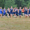 Topsfield:  Beverly, Danvers, Swampscott boys cross country teams take off from the starting line in a tri-meet at Bradley Palmer State Park. photo by Mark Teiwes / Salem News