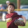 Tewksbury: Danvers National pitcher Justin Roberto takes aim for a strike in a section 4 little league all-star Williamsport game.  photo by Mark Teiwes / Salem News