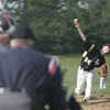 Peabody: Bishop Fenwick's Joseph Lavasseur releases a pitch into the strike zone.  photo by Mark Teiwes / Salem News
