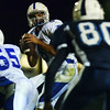 Peabody:  Danvers quarterback Paul Nicolo looks for a pass.  photo by Mark Teiwes