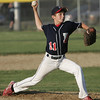 Lynn: Peabody West closing pitcher Jake Doherty  finishes shuts down Salem American in a District 16 little league game.  photo by Mark Teiwes / Salem News
