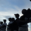 Danvers:  The Danvers High School baseball team  watches a teammate at bat during their 2-0 win over Peabody High School yesterday.