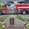 Beverly: The Elliott Chambers Fire Memorial honors the memory of the 15 people who where killed in the July 4, 1984 Elliot Chambers rooming house fire.  photo by Mark Teiwes / Salem News