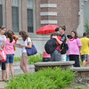 Beverly: Students lament and celebrate the end of the last day of school at Briscoe Middle School.   photo by Mark Teiwes / Salem News
