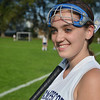 Swampscott: Swampscott junior field hockey midfielder, Ali Aylward is a brain tumor survivor.   photo by Mark Teiwes / Salem News