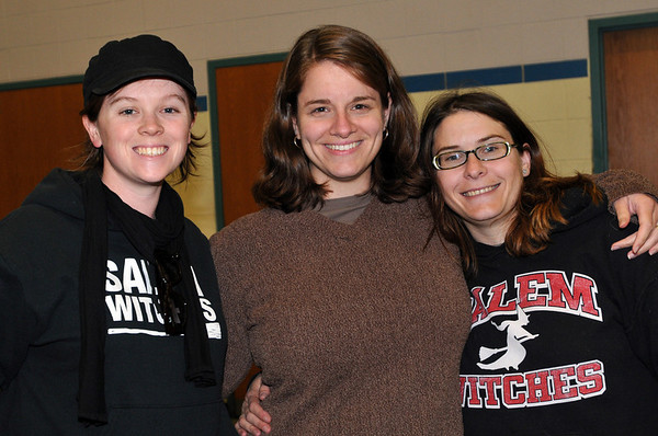 Salem: From left, Kate Colman, math teacher at Salem High, Renee Marshall, English teacher, and Beth Factor, social studies teacher. photo by Mark Teiwes / Salem News