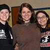 Salem: From left, Kate Colman, math teacher at Salem High, Renee Marshall, English teacher, and Beth Factor, social studies teacher. photo by Mark Teiwes / Salem News