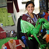 Topsfield:  Kaitlyn Fabre of Salem won first place in the 4-H craft challenge for a dragon she made and a first place in the category of best junior clothing for a sweatshirt.