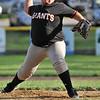 Salem: Salem Little League Majors Giants pitcher Jefry Diaz throws a fastball. photo by Mark Teiwes / Salem News
