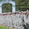 Salem: Massachusetts National Guard members line up during an event honors the retirement of Brig. Gen. Thomas J. Sellars, commander of the Massachusetts Army National Guard.  photo by Mark Teiwes / Salem News