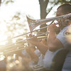 Salem: Eric Fecke of Danvers plays trombone with the Air National Guard Band Concert as the sun sets over the Salem Willows.  photo by Mark Teiwes / Salem News