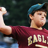 Salem: Matt O'Connell practices his pitching during a Salem American Little League all-star team practice.  photo by Mark Teiwes / Salem News