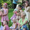 "Topsfield: Children listen to a reading of ""Fancy Nancy"", about a little girl who loves dress-up.  photo by Mark Teiwes /  Salem News"