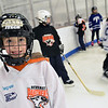 Gloucester: Youth Hockey player 6-year-old Matt Cacachietti of Beverly.  photo by Mark Teiwes  / Salem News