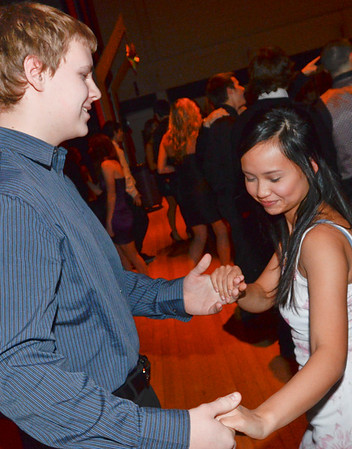 Salem: Salem High School seniors Cameron Nelson and Susan Le dance together at the school's Cotillion dance. photo by Mark Teiwes / Salem News