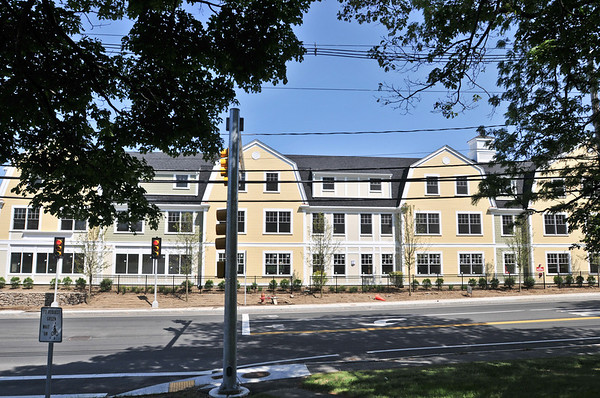 Ipswich: Powder House Village, the YMCA's affordable housing project is nearing completion. The facility will also have a bank branch and the YMCA's preschool program. photo by Mark Teiwes / Salem News