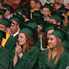 Danvers: The Essex Agricultural and Technical High School class of 2011 listen to a speech at graduation.  photo by Mark Teiwes / Salem News
