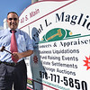 "Middleton: Paul Maglio of Storage Auction Solutions runs storage unit auctions and has appeared on Spike TVs ""Auction Hunters"".  photo by Mark Teiwes  / Salem News"