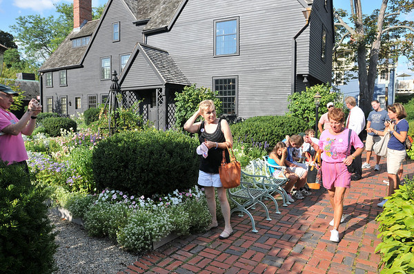 Salem:  People tour the House of the Seven Gables which inspired Nathaniel Hawthorne's 1851 novel.  photo by Mark Teiwes / Salem News