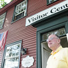 Ipswich:  Volunteer Bill Nelson has run the Ipswich visitors center for years and is stepping down. The town is deciding how to replace him, or if they can afford to keep the center open.  photo by Mark Teiwes / Salem News