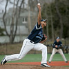 Danvers:Peabody High School starting pitcher Nick Allen releases some heat..  photo by Mark Teiwes / Salem News