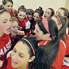 Ipswich: Masconomet girls basketball cheers before a game against Ipswich.  photo by Mark Teiwes / Salem News