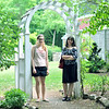 Peabody: Meghan Wicks, 21, left, and Ashton Alba, 19, are participating in an artist in residence program at Brooksby Farm with the Peabody Historical Society to make art inspired by Peabody.   photo by Mark Teiwes / Salem News