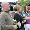 Beverly: At the dedication ceremony George Didlake, left, Brenda Didlake and Allie Didlake remember George's brother John Didlake who died in the 1984 fire.    photo by Mark Teiwes / Salem News
