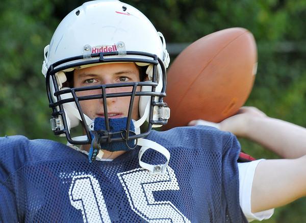Peabody: Peabody High School quarterback Jason Hiou.  photo by Mark Teiwes / Salem News