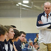 Hamilton:  Hamilton-Wenham head coach Doug Hoak worries as his team struggles to come back from a deficit.  photo by Mark Teiwes / Salem News