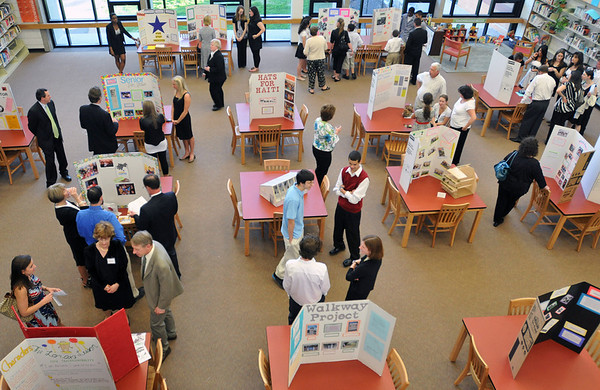 Salem: Students showcased different service learning projects at the beginning of the Unity Celebration. photo by Mark Teiwes / Salem News