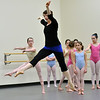 Marblehead: Scenes: Boston Ballet's Marblehead instructor Elizebeth Randall leads a modern dance class.   photo by Mark Teiwes / Salem News