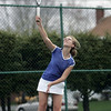 Danvers: Danvers second singles player Rachel Ziner serves up the ball. photo by Mark Teiwes